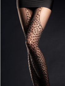 Ciorapi cu model animal print Fiore Hunt Me 30 den