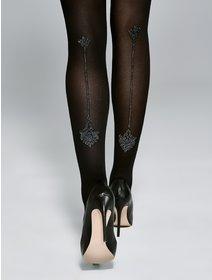 Ciorapi cu model Fiore Champagne 40 den