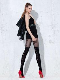 Ciorapi cu model inimioare si imitatie jambiere Knittex I'm In Love 50 den