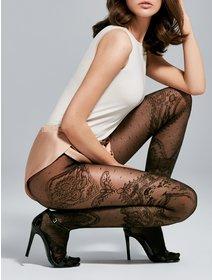 Ciorapi cu model jacard Fiore Paris 30 den