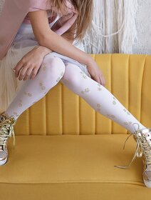 Ciorapi fete cu model ananas metalizat Knittex Pineapple 40 den