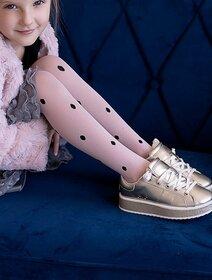 Ciorapi fete cu model buline Knittex Gosia 40 den