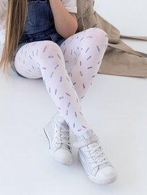 Ciorapi fete vascoza cu model creioane colorate Knittex Crayon