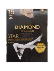 Ciorapi cu banda adeziva Diamond Star 15 den