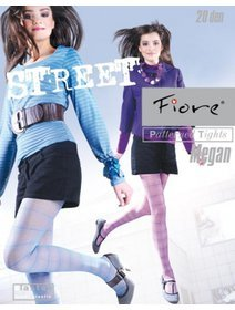 Ciorapi colorati cu model Fiore Street Megan 20 den