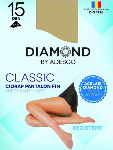 Ciorapi clasici Diamond Classic 15 den