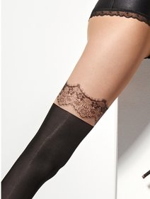 Ciorapi imitatie jambiere cu model Marilyn Zazu Lace 40 den