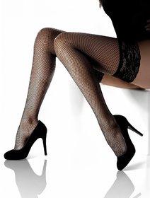Ciorapi plasa mica cu banda adeziva Marilyn Amore