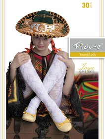 Ciorapi satinati cu model Fiore Zoya 30 den