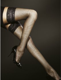 Ciorapi cu banda adeziva din plasa mica Fiore Liza