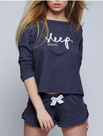 Pijamale Sensis Komplet Sleep Granat