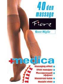 Sosete lungi 3/4 cu masaj Fiore Medica 40 den