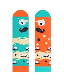 Sosete colorate amuzante Nanushki Mustachio