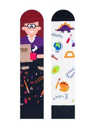 Sosete colorate cu profesoara Nanushki Margaret Teacher
