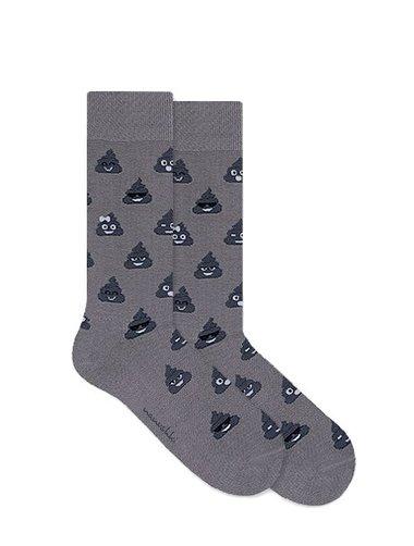 Sosete colorate Nanushki Happy Grey Poo Socks