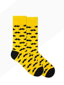Sosete model unisex Nanushki Mr. Yellow Mustache