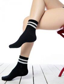Sosete negre cu dungi albe Socks Concept 198BRG-9
