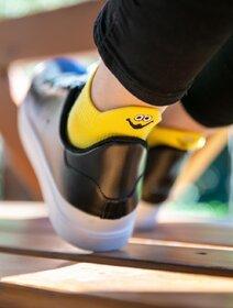 Sosete scurte galbene cu smiley Socks Concept SC-1879-7