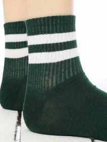 Sosete verzi cu dungi albe Socks Concept 198BRG-5