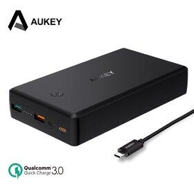 Baterie externa Aukey cu capacitate de 30 000 de mAh