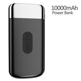 Baterie externa cu Incarcare Wireless + 2 porturi USB de 10 000 mAh
