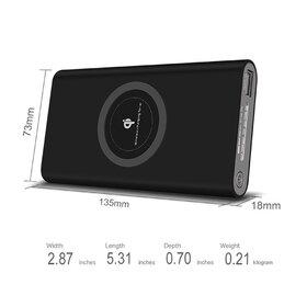 Baterie externa cu Incarcare Wireless + port USB de 10000 mAh