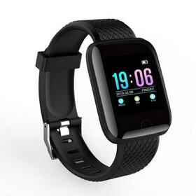 Ceas Smart cu monitorizare ritm cardic, masurare pasi, cu notificari prin Bluetooth