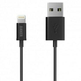 Cablu Lightning USB 1,8 metri Anker Premium Apple official MFi negru