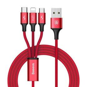 Cablu USB de incarcare 3 in 1 -  Lightning/ Micro/ USB C