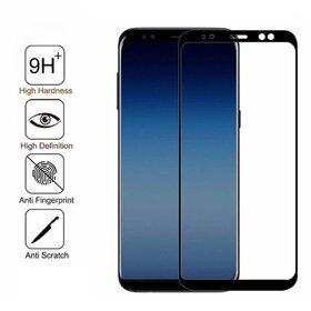 Folie de sticla - Tempered Glass - Black pentru Galaxy A8 (2018)