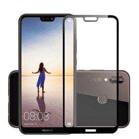 Folie de sticla - Tempered Glass - Black pentru Huawei P20 lite