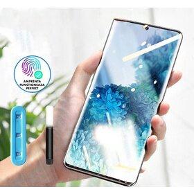 Folie din sticla cu adeziv UV Samsung Galaxy S21 Ultra cu lampa UV