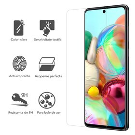 Folie de sticla - Tempered Glass - Transparenta pentru Galaxy A71