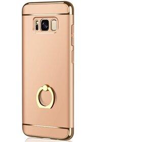 Husa 3 in 1 Luxury cu inel pentru Galaxy S8 Plus Gold