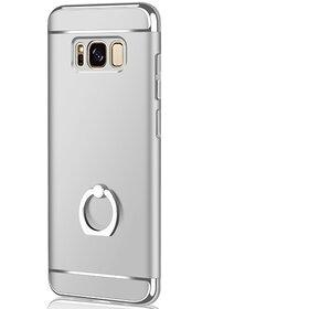 Husa 3 in 1 Luxury cu inel pentru Galaxy S8 Plus Silver