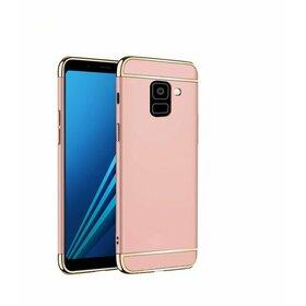 Husa 3 in 1 Luxury pentru Galaxy A6 Plus (2018) Rose Gold