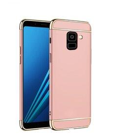 Husa 3 in 1 Luxury pentru Galaxy A8 (2018) Rose Gold