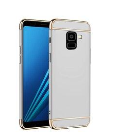 Husa 3 in 1 Luxury pentru Galaxy A8 (2018) Silver