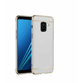 Husa 3 in 1 Luxury pentru Galaxy A8 Plus (2018) Silver