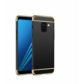 Husa 3 in 1 Luxury pentru Galaxy A8 Plus (2018) Rose Gold