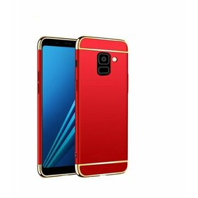 Husa 3 in 1 Luxury pentru Galaxy A8 Plus (2018) Red