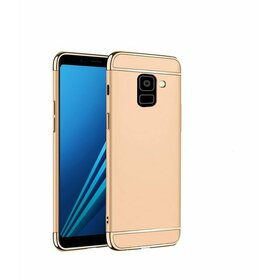 Husa 3 in 1 Luxury pentru Galaxy A8 Plus (2018) Gold