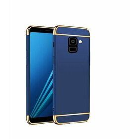 Husa 3 in 1 Luxury pentru Galaxy A8 Plus (2018) Blue