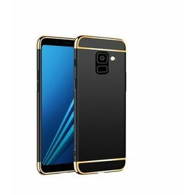 Husa 3 in 1 Luxury pentru Galaxy J6 Plus (2018) Black