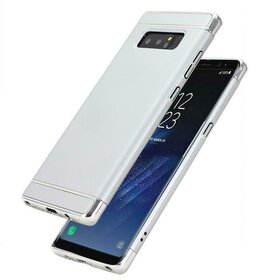 Husa 3 in 1 Luxury pentru Galaxy Note 8 Silver