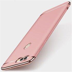 Husa 3 in 1 Luxury pentru Huawei P Smart (2018) Rose Gold