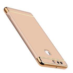 Husa 3 in 1 Luxury pentru Huawei P9 Gold