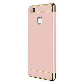 Husa 3 in 1 Luxury pentru Huawei P9 Lite Rose Gold