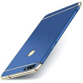 Husa 3 in 1 Luxury pentru Huawei Y6 Prime (2018)/ Honor 7A Blue