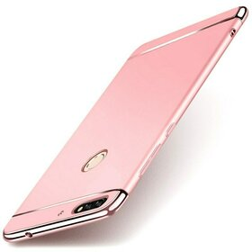 Husa 3 in 1 Luxury pentru Huawei Y6 Prime (2018)/ Honor 7A Rose Gold